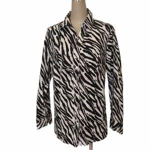 Lane Bryant Zebra Print Long Sleeve Blouse
